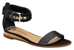 Sperry Black with Gold buckle Sandals