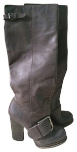 Nine West Leather Grey/taupe Boots