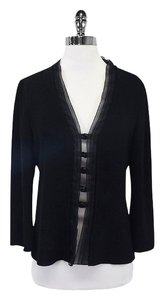 Armani Collezioni Black Longe Sleeve Pleated Top
