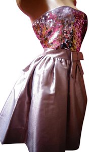 Betsey Johnson Sequin Bow Fluffy Prom Dress