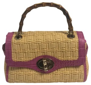 Elaine Turner Satchel in Natural/Pink
