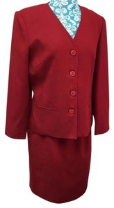 Oleg Cassini 100% Wool Skirt Suit