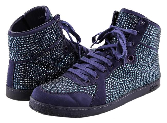 Item - Blue Coda High-top Sneaker with Crystal Studs Boots/Booties Size US 11 Regular (M, B)