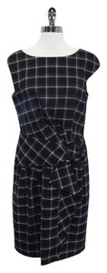 David Meister short dress Black White Plaid Cap Sleeve on Tradesy