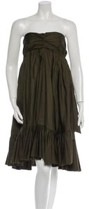 Diane von Furstenberg Dvf Green Strapless Dress