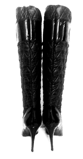 VIKTOR & ROLF Black Never Worn Leather Patent Leather Round Toe Knee High Boots/Booties Size EU 40 (Approx. US 10) Regular (M, B) VIKTOR & ROLF Black Never Worn Leather Patent Leather Round Toe Knee High Boots/Booties Size EU 40 (Approx. US 10) Regular (M, B) Image 1