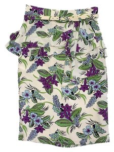 Nanette Lepore Floral Print Silk Pencil Skirt