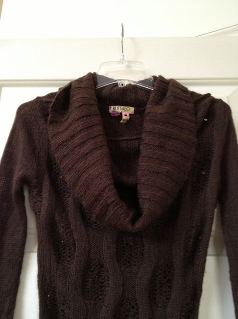 Buffalo David Bitton Cowl Neck Beaded Sweater