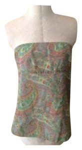 J.Crew Summer Strapless Top Multi colored (paisley)