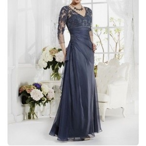 Jasmine Steel Blue Mob Dress