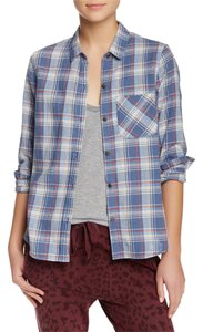 Current/Elliott Button Down Shirt paradise plaid