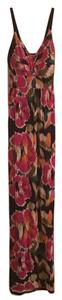 Multi-colored, abstract flowers Maxi Dress by Allison Brittney