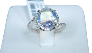 9.2.5 Gorgeous Oval 6ct Starburst Clear Mystic quartz RING Sterling Silver