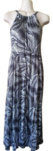 Ivory and grey Maxi Dress by Gap Halter New With Tags Summer