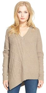 Autumn Cashmere Asymmetric Oversized V Neck Sweater