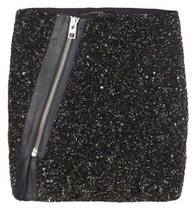 AllSaints Elise Sequins Skirt Black embellished