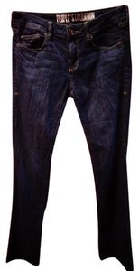 People's Liberation True Religion Hudson Free Hippie Boho Boot Cut Jeans-Dark Rinse