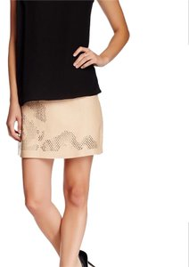 Halston Mini Skirt Caramel