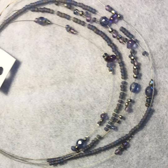 Coldwater Creek Pearl Gray Illusion Necklace