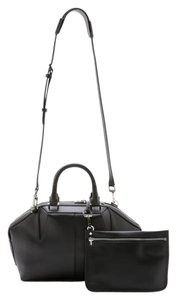 Alexander Wang Leather Detachable Pouch Crossbody Satchel in Black