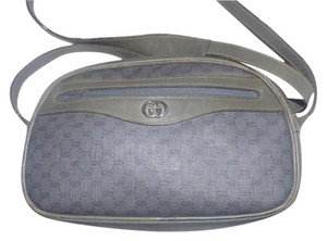 Gucci Front Pocket Classic Style Mint Vintage Coated Canvas Rare Leather Cross Body Bag