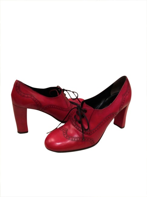 Stephane Kelian Red Vintage Lace-up Boots/Booties Size US 8 Regular (M, B) Stephane Kelian Red Vintage Lace-up Boots/Booties Size US 8 Regular (M, B) Image 1