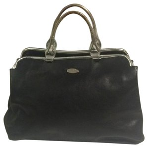 Furla Satchel in Black/Silver