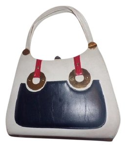 Kelly Style True 60's Mod Spacious Excellent Vintage Color Block Style Hobo Bag
