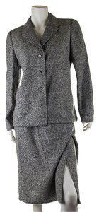 Valentino Valentino Boutique Women's Grey Alpaca Skirt Suit, Size 10 (27902)