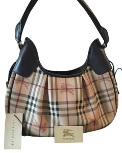 Burberry Designer Leather Hobo Bag