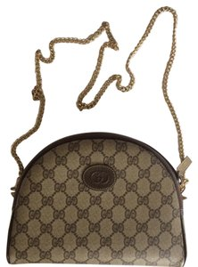 Gucci Monogram Logo Canvas Cross Body Bag