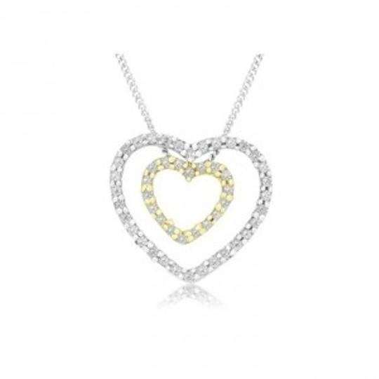 Preload https://img-static.tradesy.com/item/173915/18-carat-diamond-double-heart-sterling-silver-pendant-w-inner-gold-plated-heart-necklace-0-0-540-540.jpg