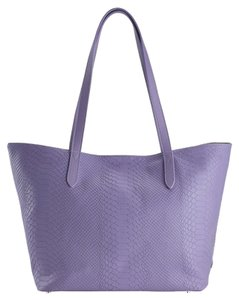 GiGi New York Python Leather Tote in Lilac