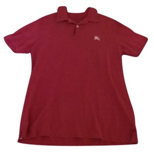 Burberry Polo T Shirt Dark pink