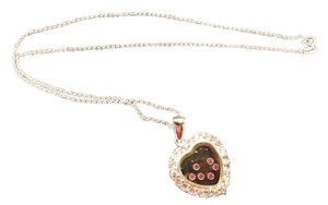 Heart Necklace Beautiful Heart Necklace, .925 Italy both Pendant and Necklace Marked