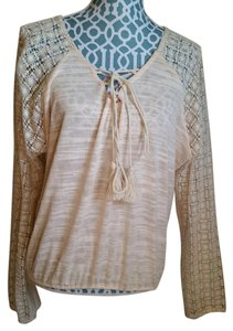 Anthropologie Needlepoint Peasant Sweater
