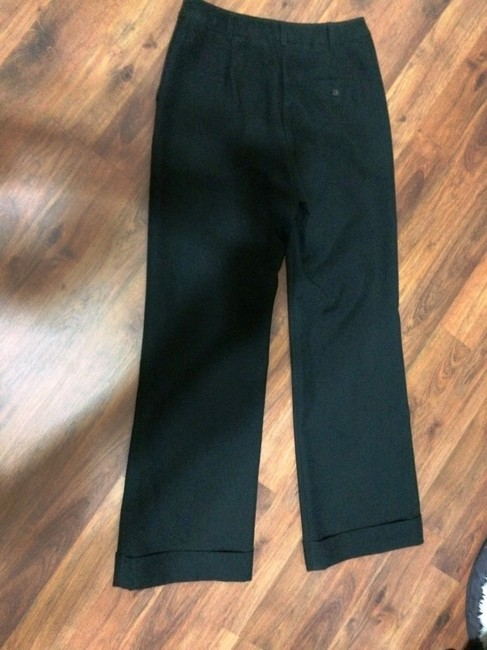 New York & Company Citystretch Cuff Comfortable Professional Trouser Pants Black