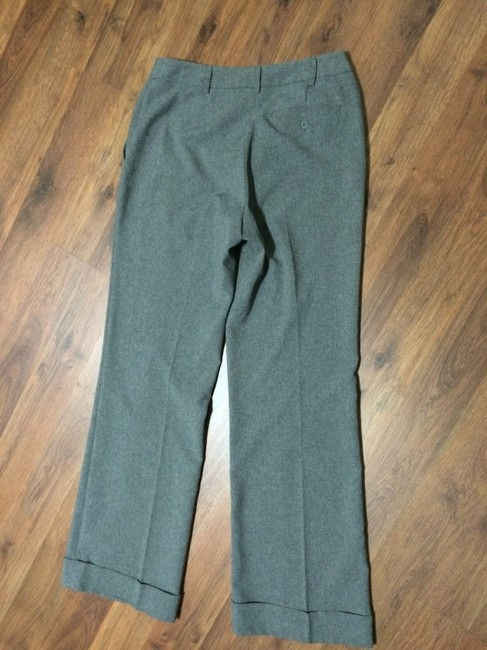New York & Company Cuff Citystretch Comfortable Professional Trouser Pants Gray