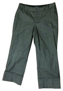 Banana Republic Pedal Pushers Cropped Cuff Capri/Cropped Pants Brown and Black Check