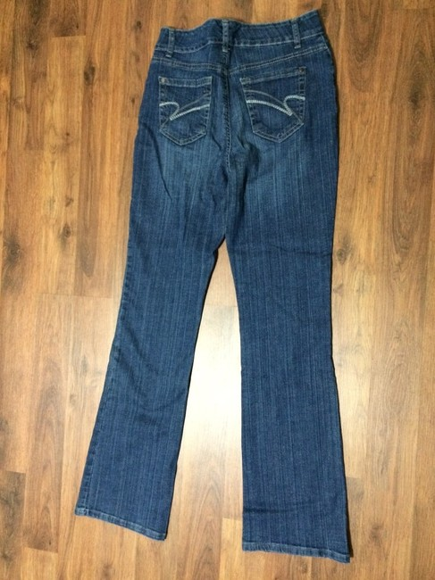 Nine West Stretchy Boot Cut Jeans-Medium Wash