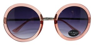 A.J. Morgan New Retro Big Eye Round Pink Frames Gray Gradient Lens Sunglasses