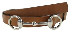Gucci NEW Leather Belt with Horsebit Buckle 281794 bgh0n Brown 2535 115/46