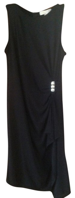 Michael Kors Black Sleeveless with Zippered Gathered Mid-length Cocktail Dress Size 2 (XS) Michael Kors Black Sleeveless with Zippered Gathered Mid-length Cocktail Dress Size 2 (XS) Image 1