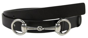 Gucci NEW Authentic GUCCI Mens Leather Belt with Horsebit Buckle 281794 bgh0n Dark Brown 2144 110/44