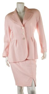 Valentino Valentino Women's Pink Rayon Skirt Suit, Size 10 (27927)