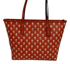 Coach New With Tags Tote in Red Multi color