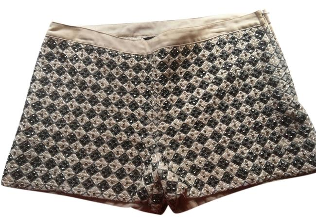 Preload https://img-static.tradesy.com/item/1739576/h-and-m-tan-with-blackgray-beads-beaded-zippered-lined-minishort-shorts-size-10-m-31-0-0-650-650.jpg
