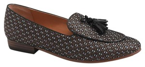 J.Crew red charcoal medallion Flats