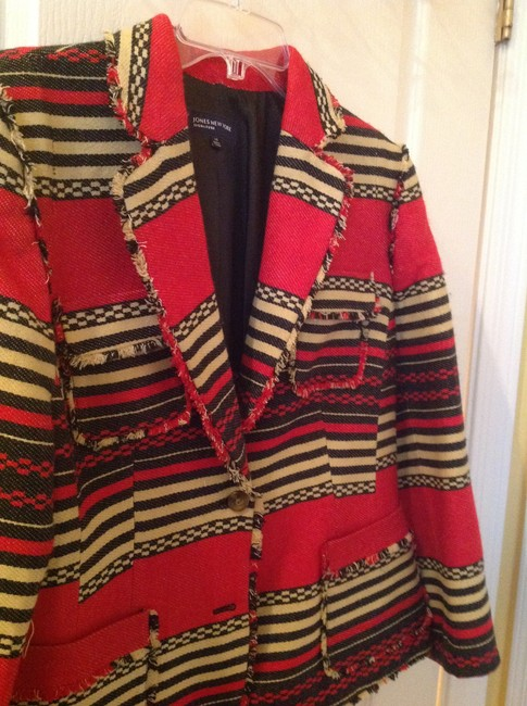 Jones New York Exclusive Black/Red/Off Whie Jacket