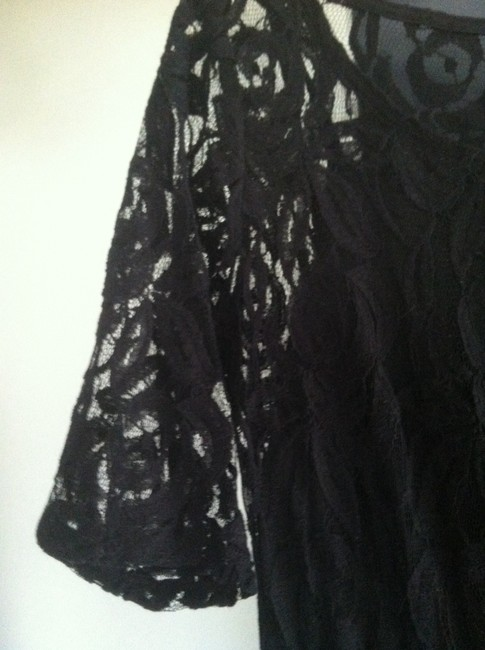 Eyeshadow short dress Black lace on Tradesy